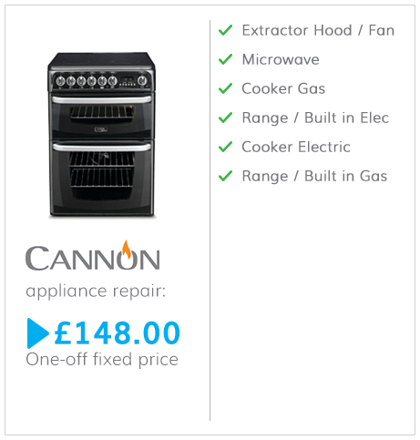 Cannon fixed fee appliance repair