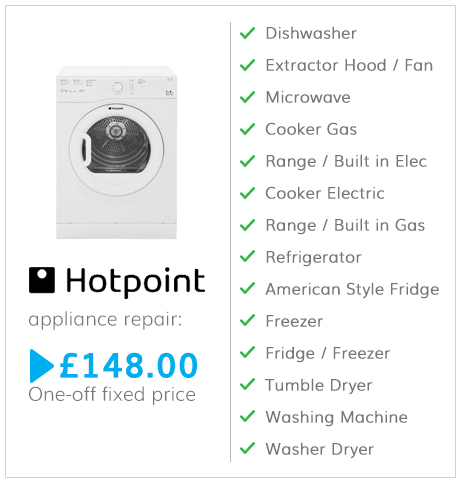 Hotpoint appliance repair fees