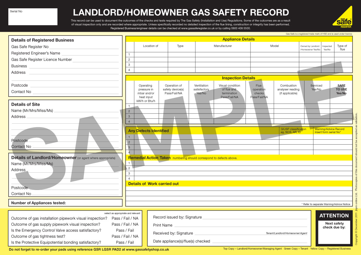 Landlord Boiler Cover >> What is a Gas Safety or CP12 Certificate? 24|7 Home Rescue